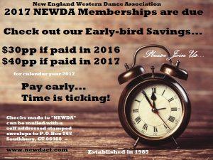 newda 2017 membership - time tick