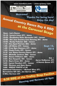 Quassy Schedule and guest instructors 2014